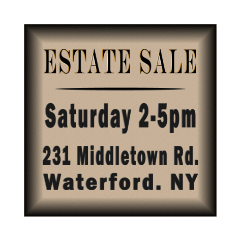 Estate sale lawn sign